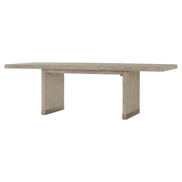 Maison 55 Raffles Modern Classic Light Wood Brass Dining Table - Extendable - Kathy Kuo Home