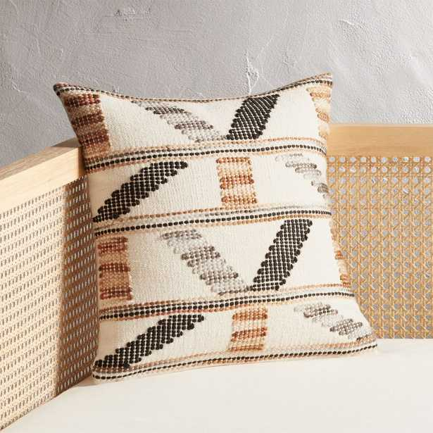 """16"""" Dorado Handwoven Pillow with Feather-Down Insert - CB2"""