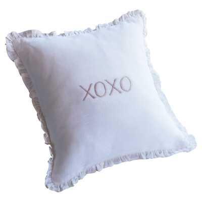 XOXO Toss Linen Throw Pillow - Wayfair