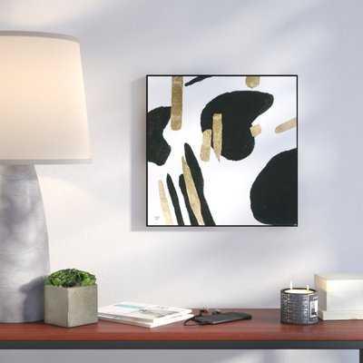 'Bigger Gold' Abstract Wall Décor Print - Wayfair