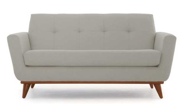 Beige Hughes Mid Century Modern Apartment Sofa - Prime Stone - Medium - Joybird