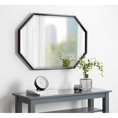 Botello Elongated Octagon Modern Beveled Accent Mirror - Black - Wayfair