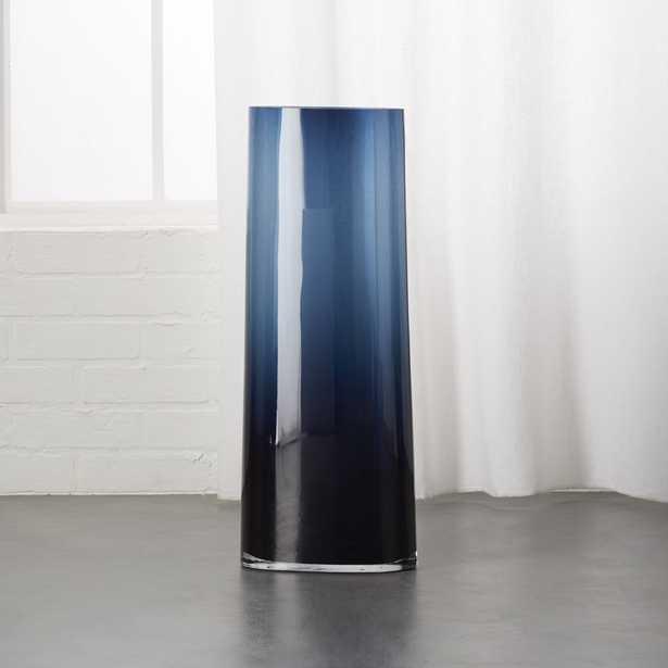 Ionia Tall Blue Glass Vase - CB2