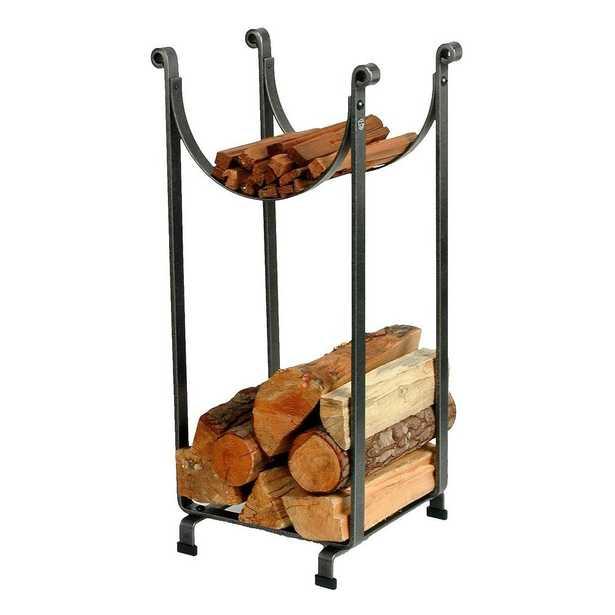 1.33 ft. Handcrafted Sling Firewood Rack Hammered Steel - Home Depot