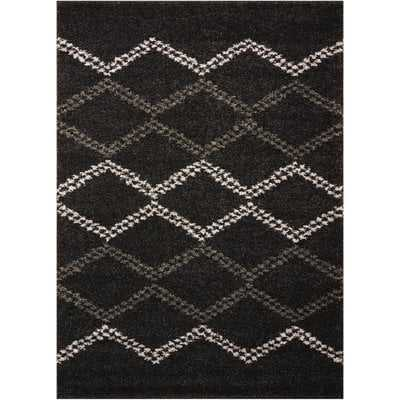 Rushmere Black/White Area Rug - Wayfair