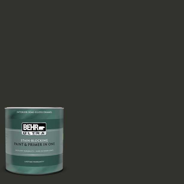 BEHR ULTRA 1 qt. #MQ5-05 Limousine Leather Semi-Gloss Enamel Interior Paint and Primer in One - Home Depot