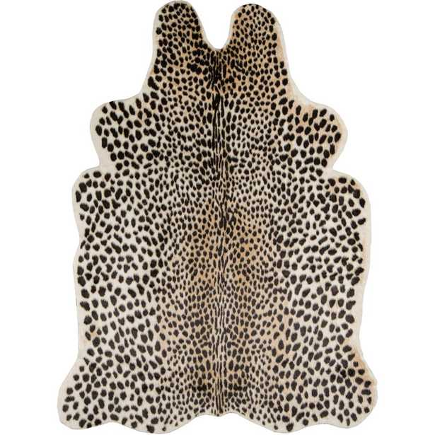 Cheetah Multi 5 ft. 3 in. x 7 ft. 10 in. Area Rug, Brown - Home Depot