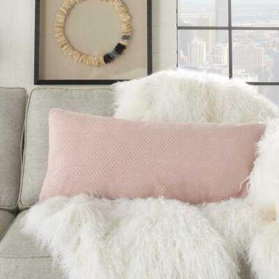Rountree Polka Dot Faux Fur Lumbar Pillow - Wayfair