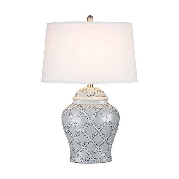 Titan Lighting Aragon 28 in. Blue and White Glaze Table Lamp - Home Depot