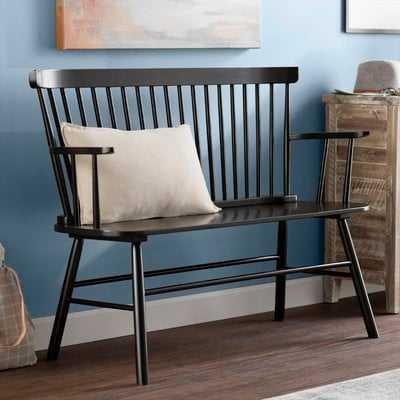 Carnany Lower Wood Bench - Wayfair