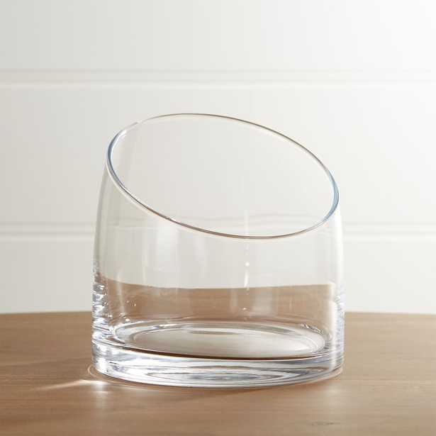 Slant Large Glass Vessel - Crate and Barrel