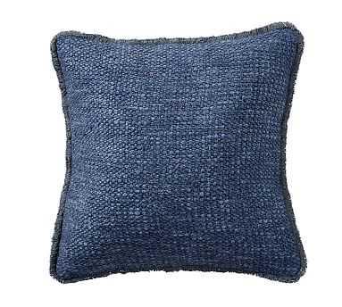 """Duskin Textured Pillow, 20"""", Midnight - Pottery Barn"""