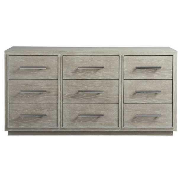 Aaren Modern Classic Grey 9 Drawers Wood Dresser - Kathy Kuo Home