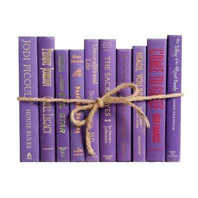 Authentic Decorative Books - By Color Modern Violet ColorPak (1 Linear Foot, 10-12 Books) - Wayfair