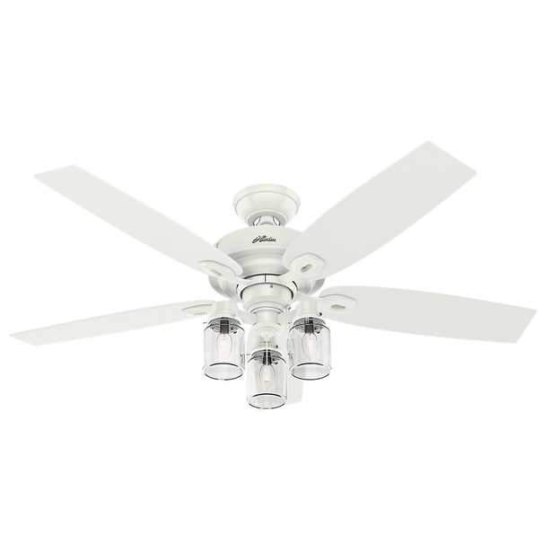 Hunter Crown Canyon 52 in. Indoor Fresh White Ceiling Fan - Home Depot