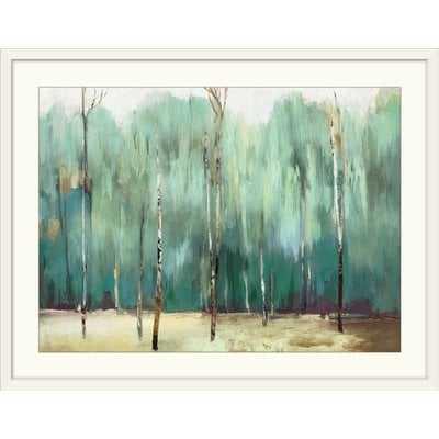'Teal Forest' PI Studio Painting Print - AllModern