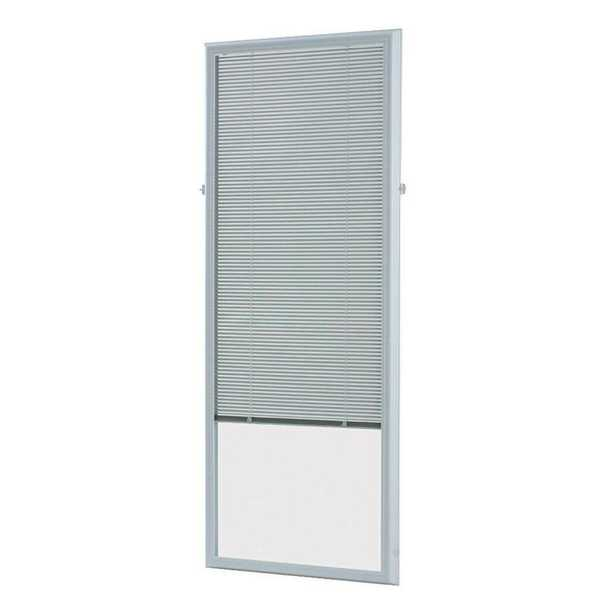 ODL White Cordless Add On Enclosed Aluminum Blinds with 1/2 in. Slats, for 25 in. Wide x 66 in. Length Door Windows - Home Depot