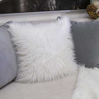 Robbin Shaggy Faux Fur Throw Pillow(Set of 2) - Wayfair