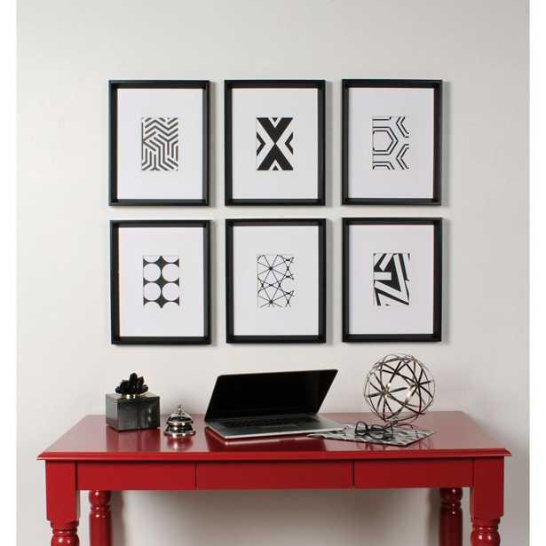 Kate and Laurel Calter Framed Wall Art Set, Black - Home Depot
