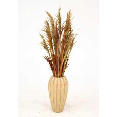 Dried Grass Desk Top Plant in Decorative Vase - Wayfair