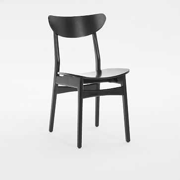 Classic Cafe Dining Chair, Black Lacquer, Individual - West Elm