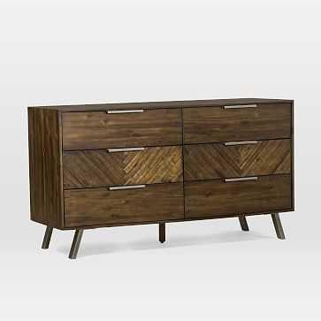 Parquet Block + Steel 6-Drawer Dresser - West Elm