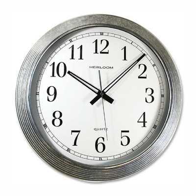 "Galvanized 16"" Wall Clock - Wayfair"