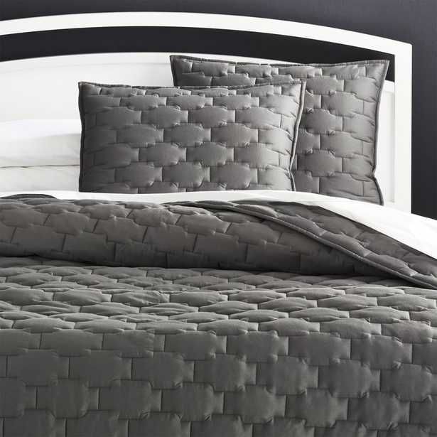Palazzo Grey Quilt King - Crate and Barrel