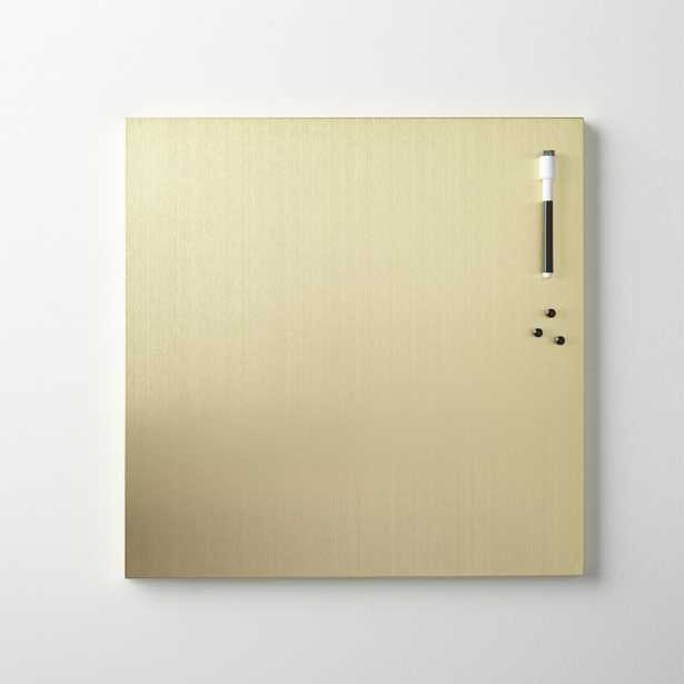brushed gold magnetic-dry erase board - CB2