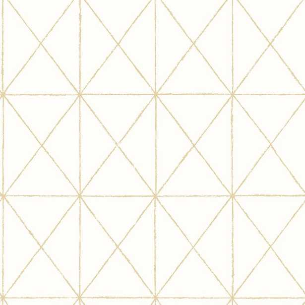 Intersection Gold Geometric Wallpaper (SAMPLE) - Home Depot