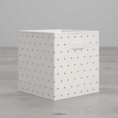 Polka Dot Fabric Bin - Wayfair