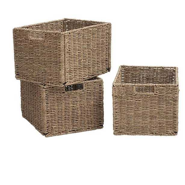 9.5 in. H x 11.75 in. W Natural Shutter Baskets (Set of 3) - Home Depot
