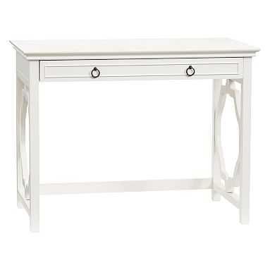 Elsie Classic Vanity Desk, Simply White - Pottery Barn Teen