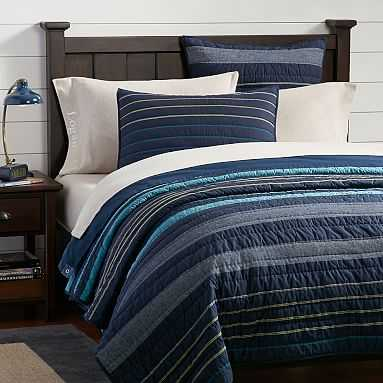 Laid Back Stripes Quilt, Twin/Twin XL, Multi - Pottery Barn Teen