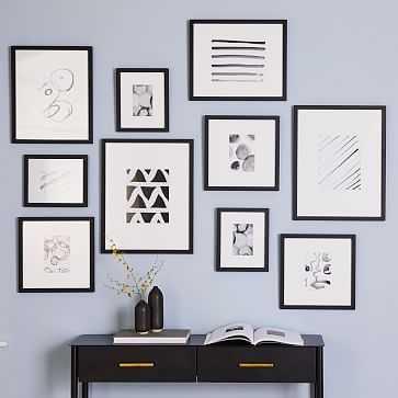 Gallery Frames, Black, Set of 10 - West Elm