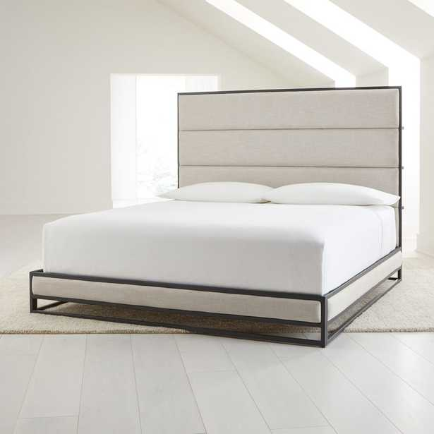 Oxford Ivory Upholstered King Bed - Crate and Barrel