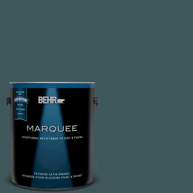 BEHR MARQUEE 1-gal. #510F-7 Teal Forest Satin Enamel Exterior Paint, Turquoises/Aquas - Home Depot