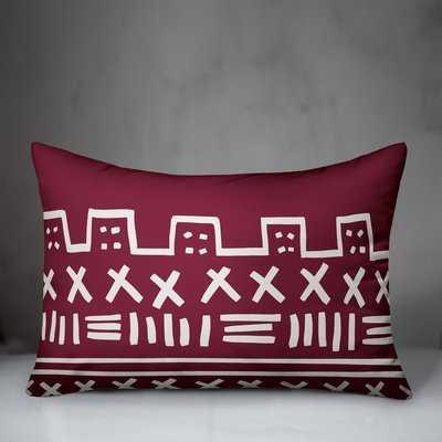 Urban Mudcloth Pattern Lumbar Pillow - Wayfair