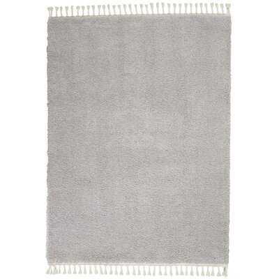 Hillside Modern Shag Solid  Light Gray Area Rug - AllModern