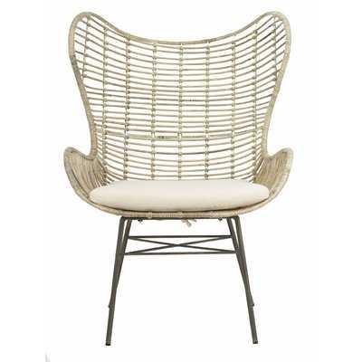 Brindley Rattan Wingback Armchair - Wayfair
