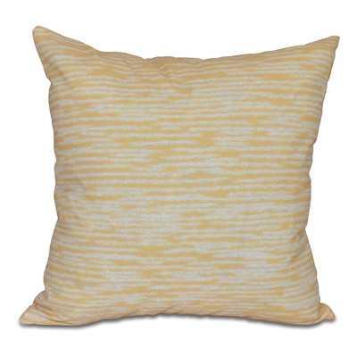 Hancock Marled Knit Geometric Print Outdoor Throw Pillow - Wayfair