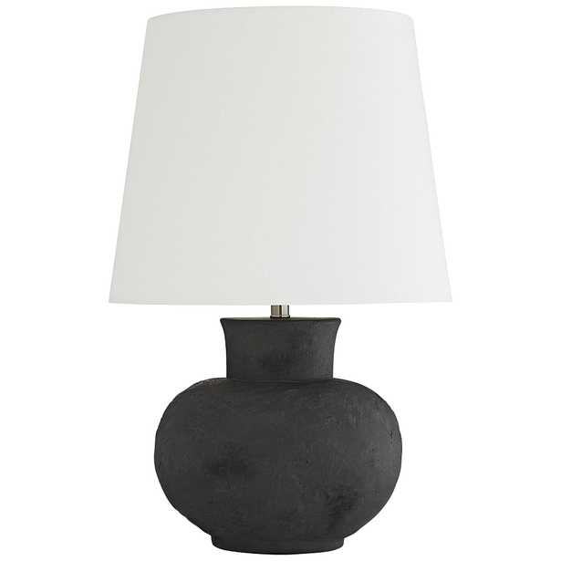 Arteriors Home Troy Matte Charcoal Terracotta Table Lamp - Style # 72R57 - Lamps Plus
