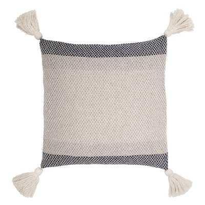 Richburg Square Color Block Striped Cotton Pillow Cover - Birch Lane