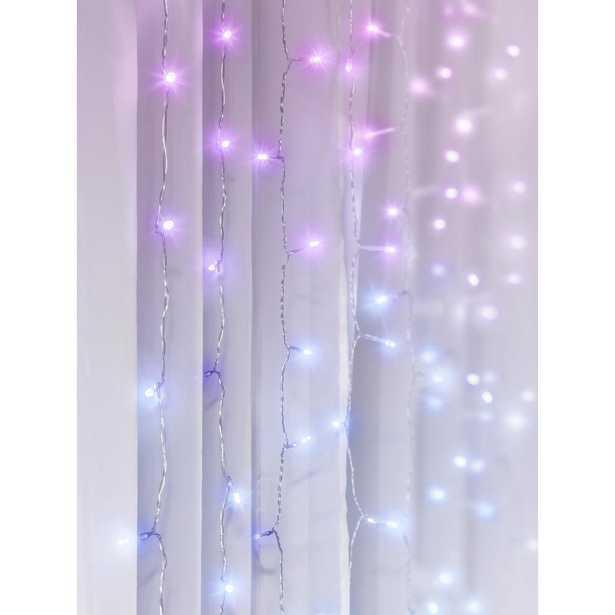 Merkury Innovations 96-Light 4 ft. Multi-Color LED Curtain Cascading Lighting - Home Depot