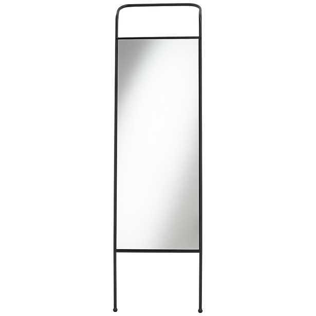 "Dalby 19 3/4"" Wide Black Rectangular Floor Mirror - Style # 70T32 - Lamps Plus"