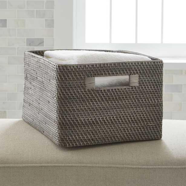 Sedona Large Grey Tote - Crate and Barrel