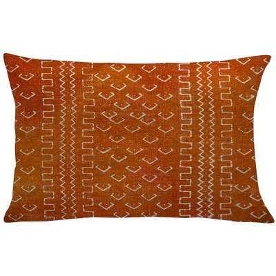 Waho Mud Cloth Linen Lumbar Pillow - AllModern