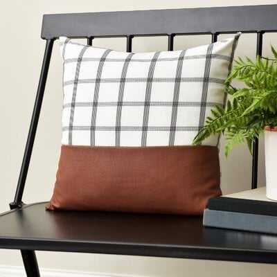 Windowpane Plaid Throw Pillow - Wayfair
