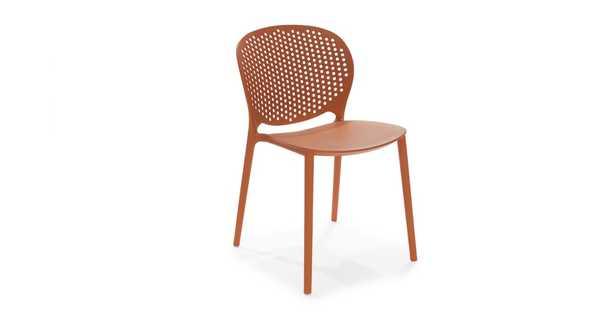 Dot Tanga Orange Dining Chair Set of 2 - Article