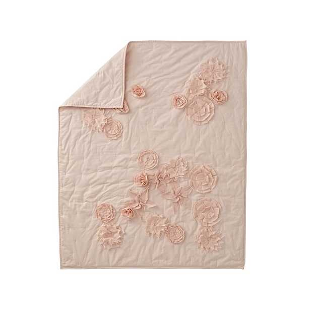 Blooming Floral Pink Baby Quilt - Crate and Barrel